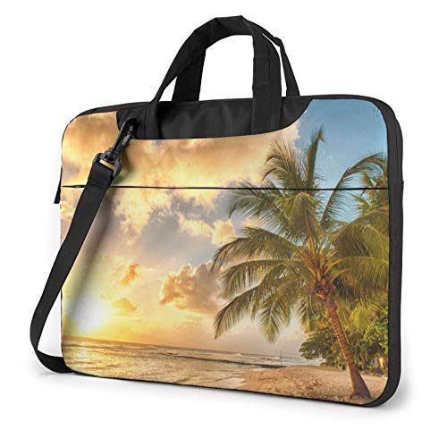 Bolsa De Hombro Para Portátil Sunset Hawaiian Palm Tree Impreso A Prueba De Golpes Impermeable Laptop Hombro Mochila Bolsa Maletín