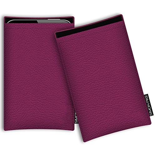 SIMON PIKE Hülle Tasche kompatibel mit Microsoft Surface Duo (X) | Schutztasche Boston in 01 pink aus Kunstleder Handyhülle