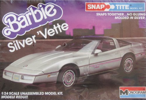 Barbie Silver 'Vette - Snap Tite - Kit de modelaje de plástico (1984 Monagram) escala 1/24