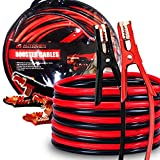 AUTOGEN Booster Cables, 4 Gauge 25 Feet Jumper Battery Cables with Storage Bag,...
