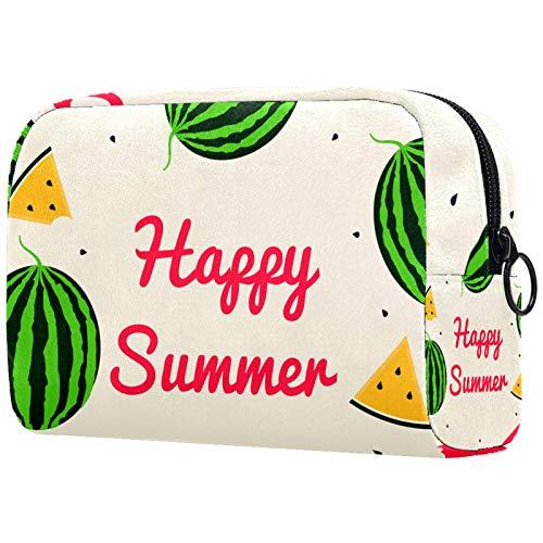 Estuche de Viaje cosmético, Estuche de Maquillaje, Estuche de Maquillaje, Regalo de cumpleaños, Happy Summer Watermelons