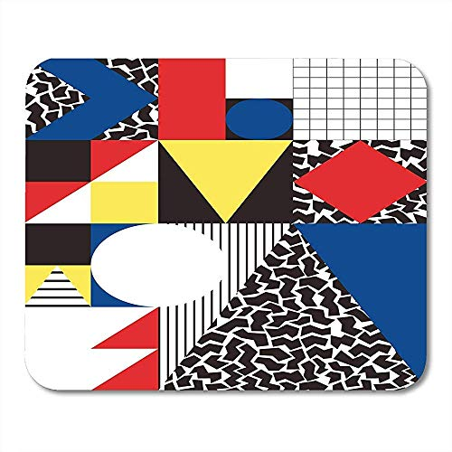 Mouse Pads Colorful Bauhaus Abstract Geometric in Retro Modern Pattern Cubism 80S Mouse pad 25 X 30 CM