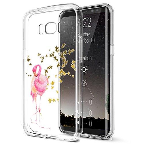 Coque Galaxy S8,ikasus Ultra mince doux TPU Coque,Colorful Art Painted souple en caoutchouc de silicone Bumper Coque,cristal clair souple en silicone avec motif Coque arrière pour Galaxy S8,#2