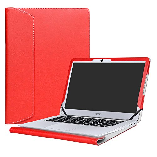 Alapmk Protective Case Cover For 14' Acer Chromebook 14 CB3-431 Series Laptop,Red