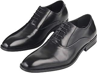 [Adolph] ビジネスシューズ 革靴 メンズ ストレートチップ 防滑 ZY-1006 (ブラック) 24.5cm-27.0cm