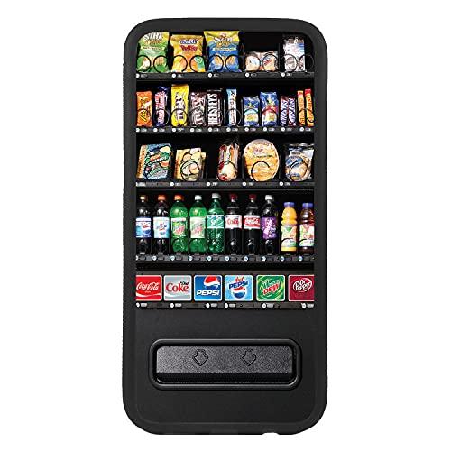 afrostore Funda Carcasa de móvil para Apple iPhone SE 2ª Gen 2020 Maquina expendedora TPU Borde Negro