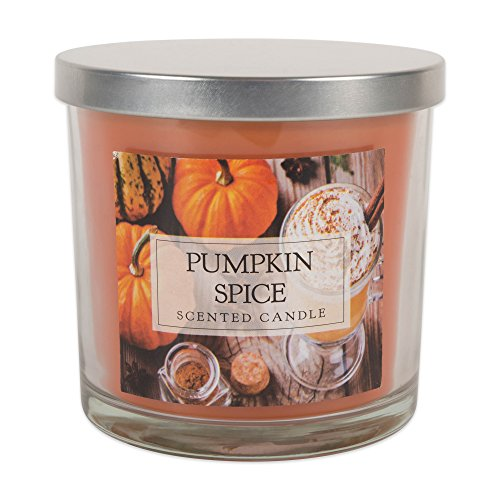DII Home Traditions 3-Wick Evenly Burning Highly Scented 4x4' Large Jar Candle with 40+ Hour Burn Time (14.5 Oz)-Pumpkin Spice