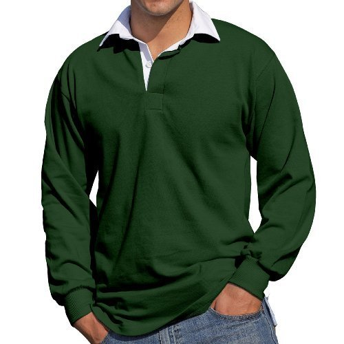 Front Row - Polo - Homme vert olive Small