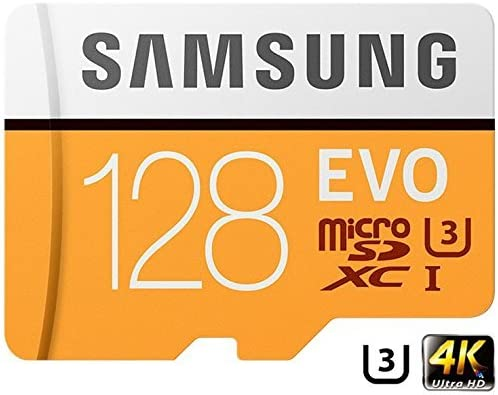 Samsung 128GB MicroSD XC Class 10 UHS-3 Mobile Memory Card up to 100MB/s Read Speed (MB-MP128GA) with MicroSD to SD Adapter, USB 2.0 MemoryMarket Dual Slot MicroSD & SD Memory Card Reader