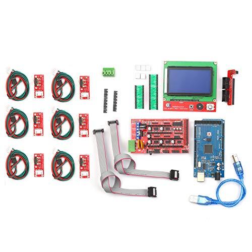 KKmoon Kit Controller Stampante 3D CNC con Controller RAMPS 1.4 Scheda di Controllo 2560 A4988 Driver Motore Passo-passo LCD 12864 Controller Display Grafico Intelligente