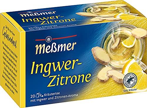 Meßmer Ingwer-Zitrone | 20 Teebeutel | Vegan | Glutenfrei | Laktosefrei