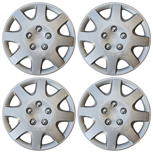 Set of 4 Nissan Versa 15 Silver Replica Wheel Cover, Drive Accessories KT-1017-15S//L