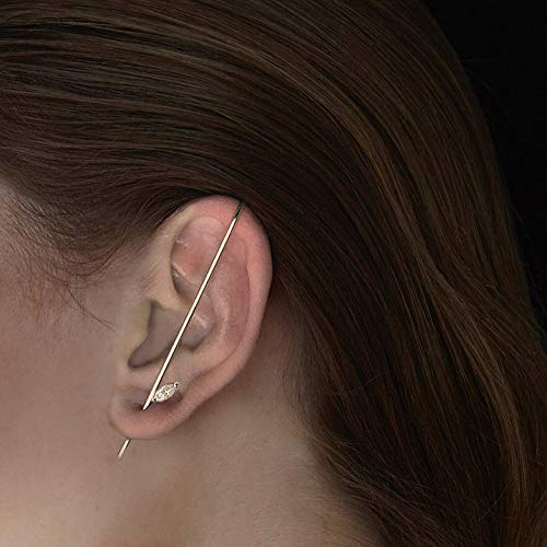 HINK Fashion Personalized Design Around The Auricle Type Ear Clip Wire Earrings Earrings Jewelry & Watches For Woman Valentine Easter Gift