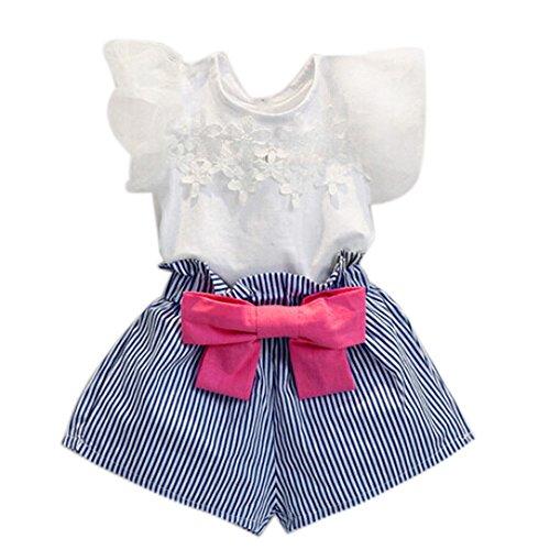 Allence Mädchen Röcke Zwei stücke Set Kleidung Kinder Kleid Rock Chiffon Bluse + Dot Rock Printkleid