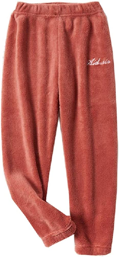 Little Big Kids Pants Solid Color Soft Winter Cotton Bottom Plush Trousers for Boys and Girls