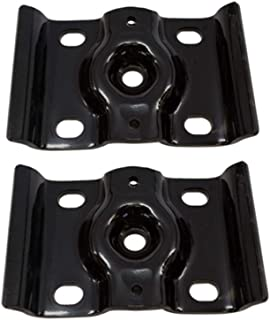 Pair Rear Suspension Axle Leaf Spring U-Bolt Counter Top Plate Bracket Fit for 1999-2010 Ford F-250 F350 Super Duty Excursion