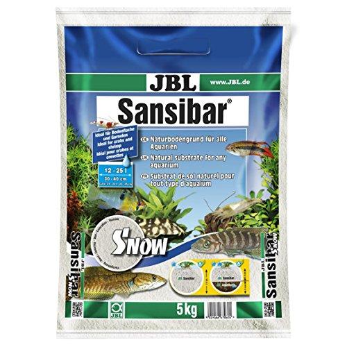 JBL Bodengrund Schneeweiß für Süß- und Meerwasser Aquarien, Sansibar Snow 5 kg, 67060