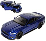 Welly Ford Mustang VI Coupe Azul Ab 2014 1/24 Modelo Auto
