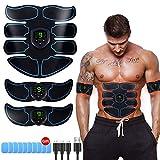Electroestimulador Muscular, Abdominales Cinturón, Estimulador Muscular Abdominales, Masajeador Eléc...