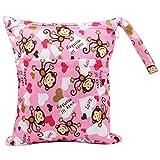 NEVRTP Windeltasche, 2/1 Packung Wet Bags Wiederverwendbare Organizer-Taschen mit Reißverschluss, wasserdichte, waschbare Windel-Reißverschlusstaschen für Windel