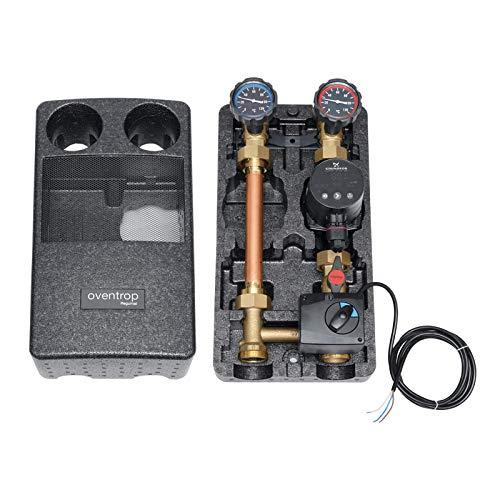 Oventrop Pumpengruppe Regumat M3 mit Mischer + Grundfos Hocheffizienzpumpe Alpha 25/60 NEU für Fußbodenheizung, Heizkreis