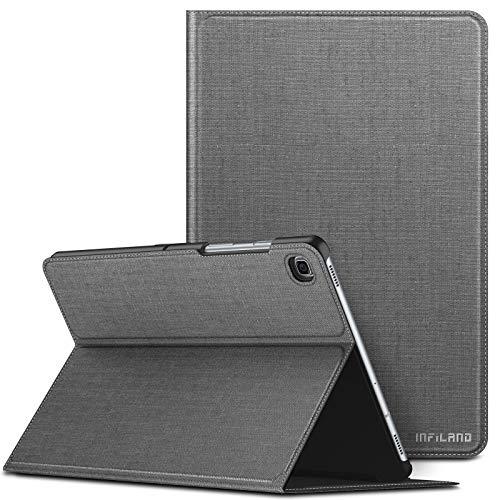 INFILAND Custodia per Samsung Galaxy Tab S5e, Visione Multi Angoli Supporto Anteriore Custodia per Samsung Galaxy Tab S5e 10.5'' (T720/T725/T727) 2019, Automatica Svegliati/Sonno,Grigio