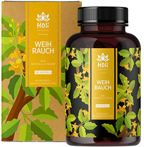 Holi Natural® Premium Weihrauch Extrakt. 85% Boswellia-Säure. 180 Kapseln. Hochdosiert mit 2000mg...
