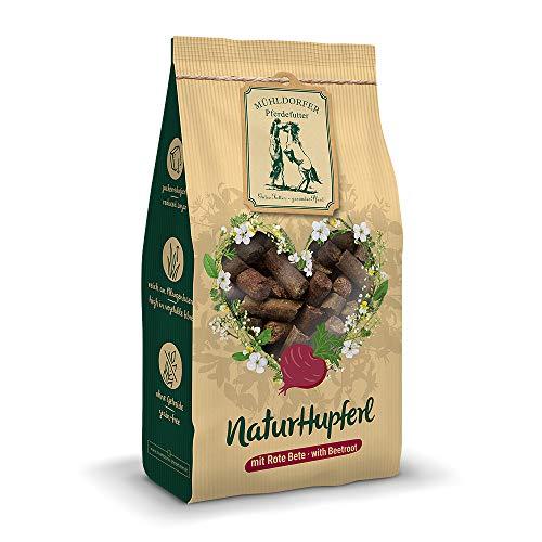 Mühldorfer NaturHupferl Rote Bete, 1 kg, naturgesunde Leckerli für Pferde, getreidefrei, ohne Melasse und Zusatzstoffe, zucker- und stärkereduziert