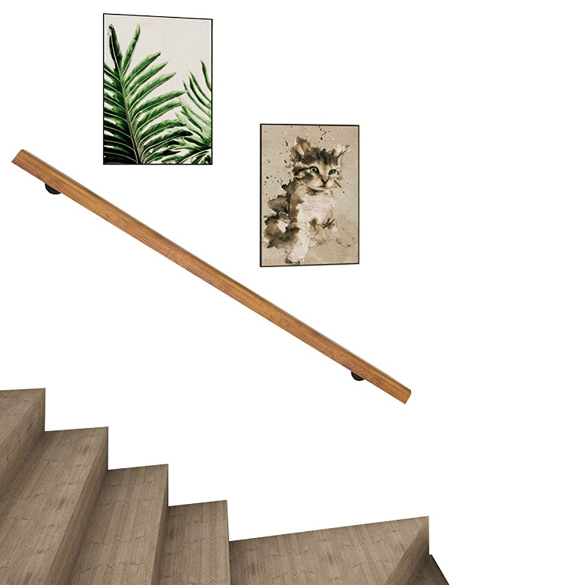 シマウマデッド広々手すり-キット一式、廊下サポートロッド、サポート付きインテリアウォールマウント階段手すり