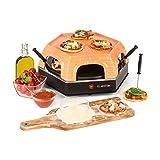 Klarstein Capricciosa - Four à pizza, 1500W, Dôme terracotta, Maintien au chaud, Sans huile, Cuisson rapide, 6 pelles à pizza, Noir