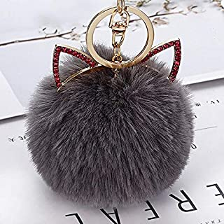 Cloth World Model 10 Pcs/Lot Lovely Cat Plush Hairball Keychain Toy Cute Cat Ears Bag Pendant Key Ring Doll Car Ornaments for Girl Woman Gifts Must Have Toys 2 Year Old Girl Gifts The Favourite DVD