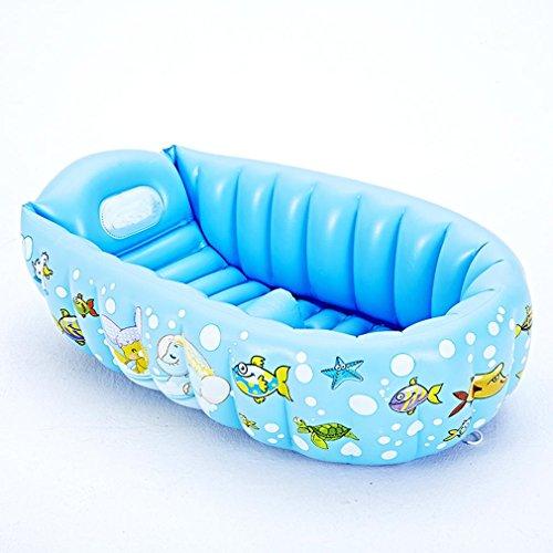 Heruai Baby Baths Piscine pour enfants Gonflable Petit bain Épaississant Portable Insulation Can Lie Down Folding Pool Bébé bain eau jouet flottant rangée