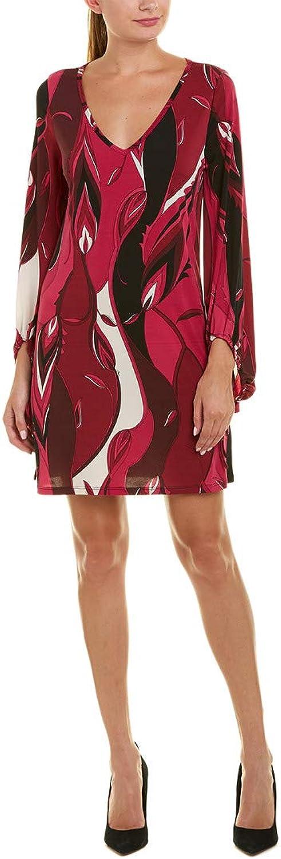 Trina Trina Turk Women's Peachy V Neck Printed Jersey Dress
