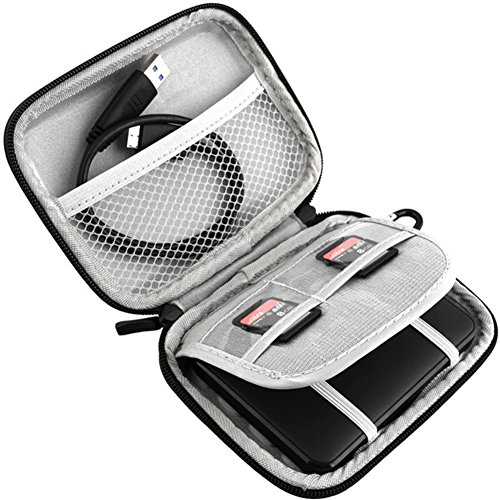Funda de Viaje de EVA a Prueba de Golpes, portátil de 2,5 Pulgadas para Disco Duro Externo Seagate Expansion Seagate Backup Plus Slim 1 TB 2 TB 4 TB Disco Duro Externo USB 3.0