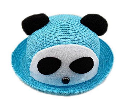 Koala Superstore Cappello di Paglia di Sun Cute Panda Estate del Bambino del Cappello della Benna Topper, Blu