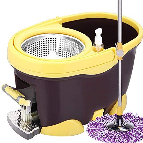 velocidad Fregona Y Cubo De Microfibra Para La Limpieza De Suelos Plástico/Metal Para El Hogar Limpieza De Suelos De Cocina