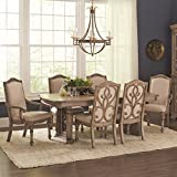 Coaster Home Furnishings Ilana 5-Piece Dining Set with Removable Leaf Table Antique Linen