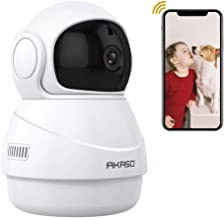 AKASO Security Camera IP Camera, 1080P HD WiFi Home Surveillance Baby/Pets Monitor with Two-Way Audio - P20
