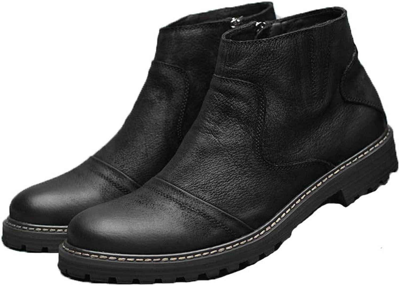 ZHRUI Side Zip Chelsea Boots for for for Men Soft Sole Non Slip Durable Andable Comfort Boots (färg  svart, Storlek  UK 5.5)  ej att förglömma!