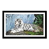 Diamante completo 5D DIY pintura de diamante tigre blanco pintura...