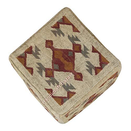 Handicraft Bazarr Amazon - Funda para puf (45 x 45 x 45 cm), diseño étnico