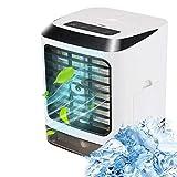 AZHLUF Mini klimaanlage 3-Gang-Mobile Tragbare Luftkühler, klimagerät klein, Desktop-Lüfter, Luftreiniger, USB-Aufladung und leise, for Büro Camping Hause Schlafzimmer