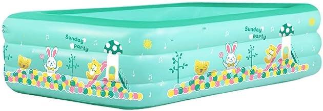 Inflador Piscina Plegable para niños, Fiesta de Verano Piscina Familiar de Agua para Exteriores, Patio Trasero, sobre el Suelo, jardín
