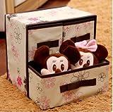 BBGSFDC El dormitorio de estudiantes pone la caja de almacenamiento de artículos en la cama para acomodar la caja de acabado de cajón, gabinete de tela de arte plegable trompeta