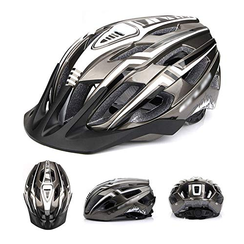 SJAPEX Cycling Bike Helmet with Rechargeable Rear LED Light, Adult Road Helmet for Urban Mountain Commuter Adjustable Size for Adult Men/Women (56-59CM)