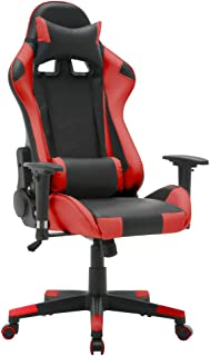 T-LoVendo TY-OC-RC1-RED Silla Gaming Oficina Racing Sillon Gamer Despacho Profesional Videojuegos PC