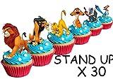 30x Kuchen-, Backwarendekoration aus Esspapier mit Motiv