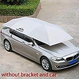 カーテントカーポート - 自動車の傘の日よけカバー、防風/UV保護/ちり止めの可動カーポート - 折り畳み式のオックスフォードの布の屋外の自動車のテント(S,銀色)