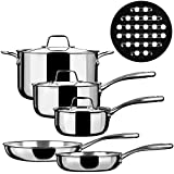 Duxtop Whole-Clad Tri-Ply Stainless Steel Induction Ready Premium...