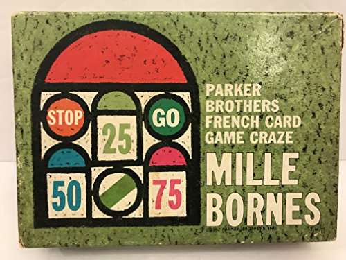 Mille Bornes Parker Brothers French Auto Race Card Game1962 Vintage